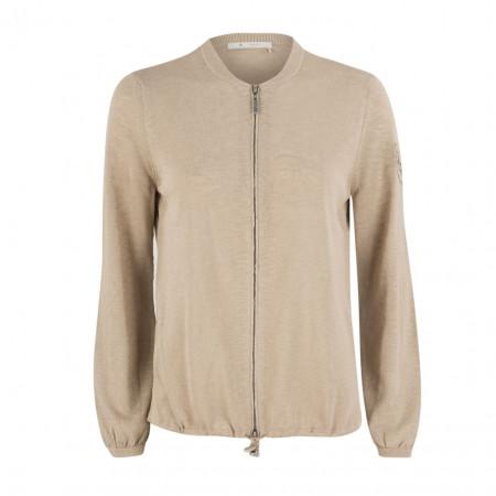 SALE % | Boss Casual | Strickjacke - Regular Fit - Zipper | Beige online im Shop bei meinfischer.de kaufen
