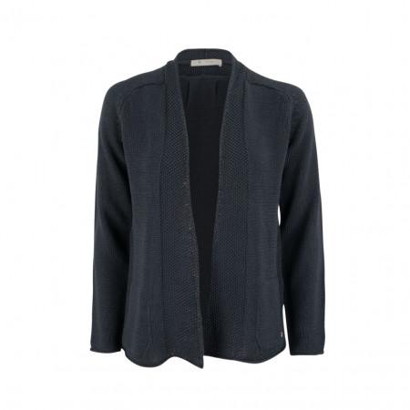 SALE % | Boss Casual | Strickjacke - Regular Fit - offen | Blau online im Shop bei meinfischer.de kaufen