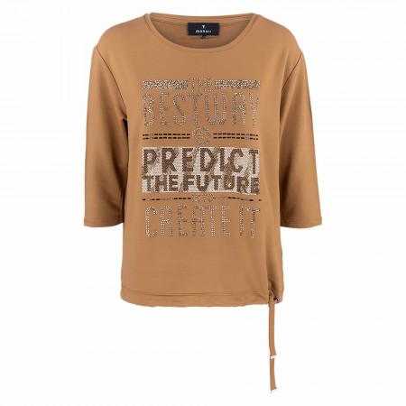 SALE %   Monari   T-Shirt - Loose Fit - 3/4 Arm   Braun online im Shop bei meinfischer.de kaufen