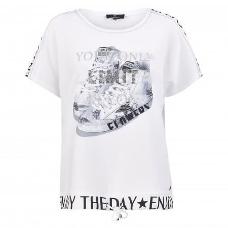 SALE % | Monari | Sweatshirt - Loose Fit - Strass | Weiß online im Shop bei meinfischer.de kaufen