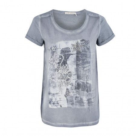SALE % | Monari | Blusenshirt - Regular Fit - Frontprint | Blau online im Shop bei meinfischer.de kaufen