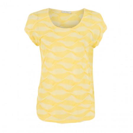 SALE % | Boss Casual | Leinenshirt - fitted - Applikationen | Gelb online im Shop bei meinfischer.de kaufen