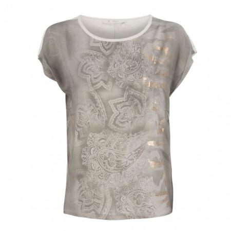 SALE % | Monari | T-Shirt - Regular Fit - Schimmereffekt | Grau online im Shop bei meinfischer.de kaufen