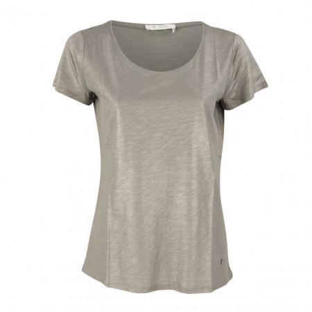 SALE % | Boss Casual | T-Shirt - Regular Fit - Goldschimmer | Grau online im Shop bei meinfischer.de kaufen