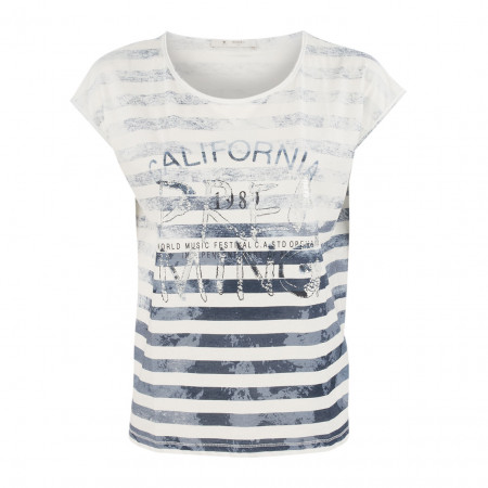 SALE % | Boss Casual | T-Shirt - Regular Fit - Print-Mix | Blau online im Shop bei meinfischer.de kaufen