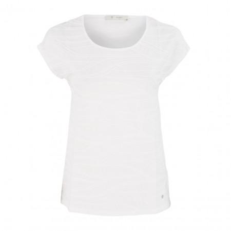 SALE % | Monari | T-Shirt - Regular Fit  - Webstruktur | Weiß online im Shop bei meinfischer.de kaufen