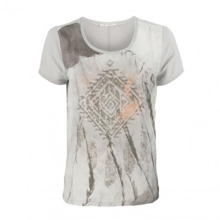 SALE % | Monari | T-Shirt - Regular Fit - Strassdekor | Grau online im Shop bei meinfischer.de kaufen