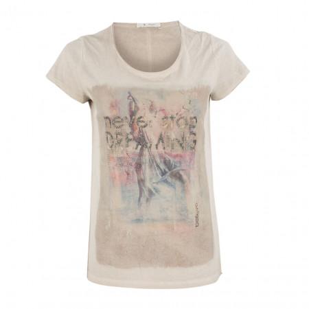 SALE % | Boss Casual | T-Shirt - Regular Fit - Glitzer | Beige online im Shop bei meinfischer.de kaufen
