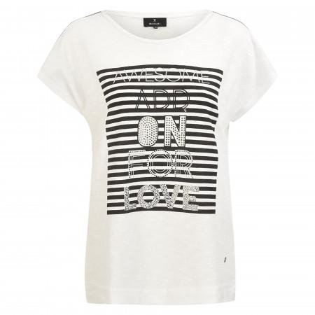 SALE % | Monari | T-Shirt - Loose Fit - Strass | Weiß online im Shop bei meinfischer.de kaufen