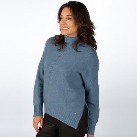 SALE % | Monari | Pullover - Loose Fit - Turleneck | Blau online im Shop bei meinfischer.de kaufen