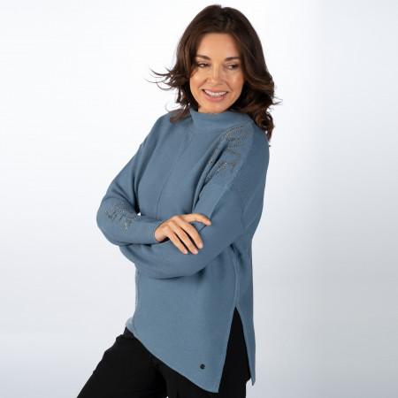 SALE %   Monari   Pullover - Loose Fit - Turtleneck   Blau online im Shop bei meinfischer.de kaufen