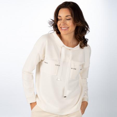 SALE % | Monari | Sweatshirt - Loose Fit - 1/1 Arm | Weiß online im Shop bei meinfischer.de kaufen