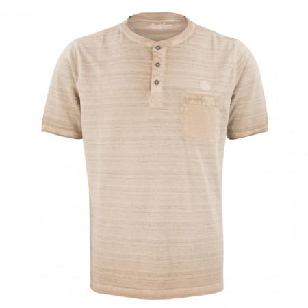 SALE % | Monte Carlo | Henleyshirt - Regular Fit - Stripes | Beige online im Shop bei meinfischer.de kaufen