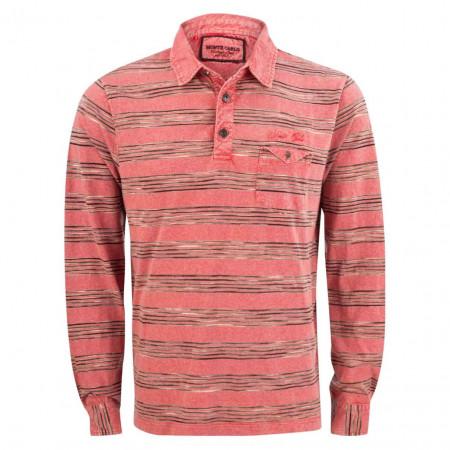 SALE % | Monte Carlo | Poloshirt - Comfort Fit - Stripes | Rot online im Shop bei meinfischer.de kaufen