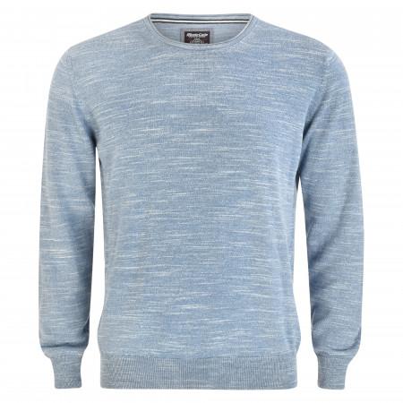 SALE % | Monte Carlo | Pullover - Regular Fit - Melange-Optik | Blau online im Shop bei meinfischer.de kaufen