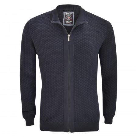 SALE % | Monte Carlo | Strickjacke - Regular Fit - Zipper | Blau online im Shop bei meinfischer.de kaufen