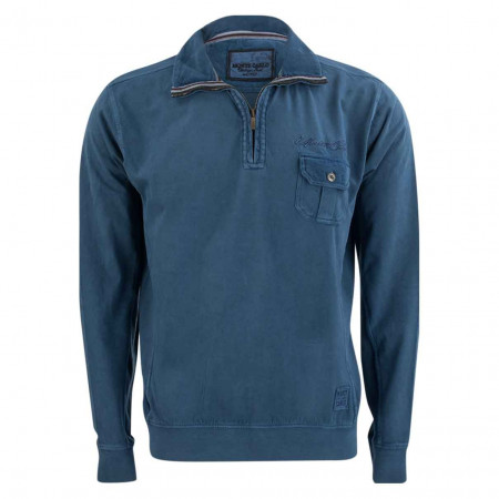 SALE % | Monte Carlo | Sweatshirt - Regular Fit - Zipper | Blau online im Shop bei meinfischer.de kaufen