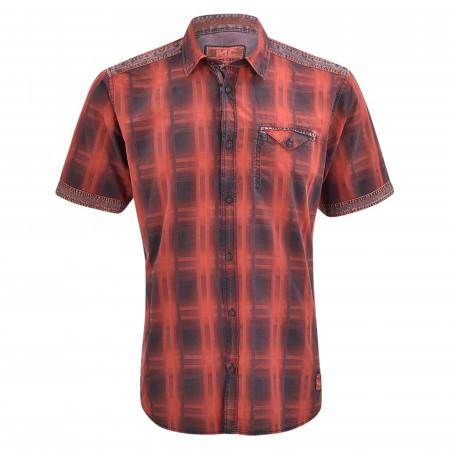 SALE % | Monte Carlo | Freizeithemd - Regular Fit - Kentkragen | Rot online im Shop bei meinfischer.de kaufen