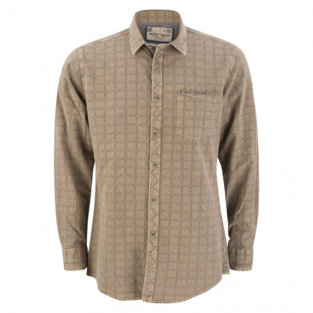 SALE % | Monte Carlo | Freizeithemd - Regular Fit - Ausputz | Beige online im Shop bei meinfischer.de kaufen
