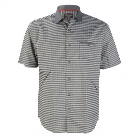 SALE % | Monte Carlo | Hemd - Modern Fit - Stripes | Grau online im Shop bei meinfischer.de kaufen