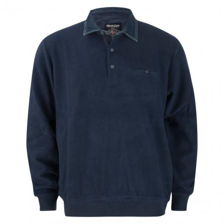 SALE % | Monte Carlo | Langarmpolo - Regular Fit - Ausputz | Blau online im Shop bei meinfischer.de kaufen