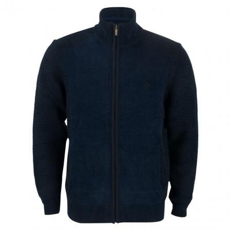 SALE % | Monte Carlo | Strickjacke - Regular Fit - Troyer | Blau online im Shop bei meinfischer.de kaufen
