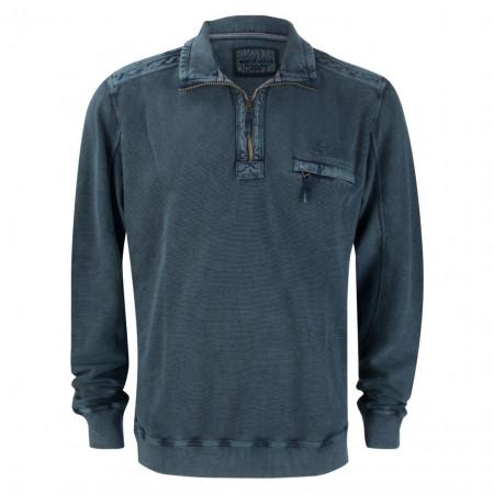 SALE % | Monte Carlo | Pullover - Regular Fit - Zipper | Blau online im Shop bei meinfischer.de kaufen