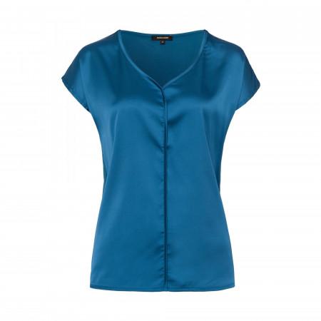 SALE % | More&More | Blusenshirt - Regular Fit - Material-Mix | Blau online im Shop bei meinfischer.de kaufen
