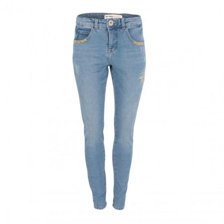 SALE % | Boss Casual | Jeans -  Bradford Blue Flower - Slim Fit | Blau online im Shop bei meinfischer.de kaufen