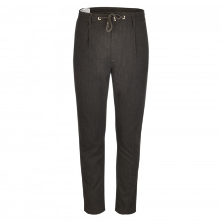 SALE % | New in Town | Flanellchino - Modern Fit - Muster | Schwarz online im Shop bei meinfischer.de kaufen