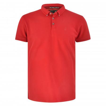 SALE % | No Excess | Poloshirt - Regular Fit - Button Down | Rot online im Shop bei meinfischer.de kaufen