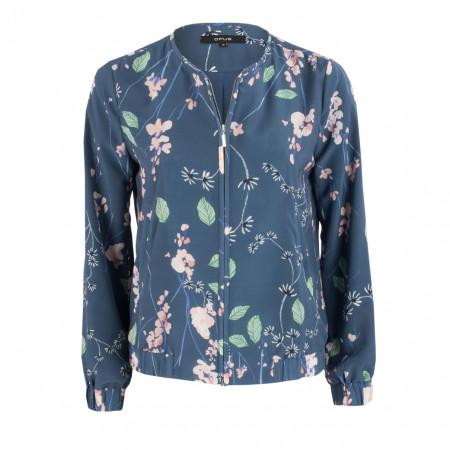 SALE % | Opus | Blouson - Regular Fit - Flowerprint | Blau online im Shop bei meinfischer.de kaufen
