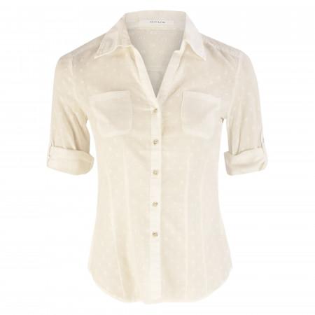 SALE % | Opus | Bluse - Slim Fit - Fadera dobby dot | Weiß online im Shop bei meinfischer.de kaufen