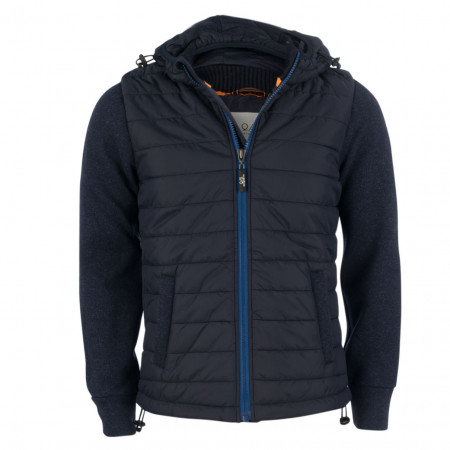SALE % | Q/S designed by | Hybridjacke - Modern Fit - Kapuze | Blau online im Shop bei meinfischer.de kaufen