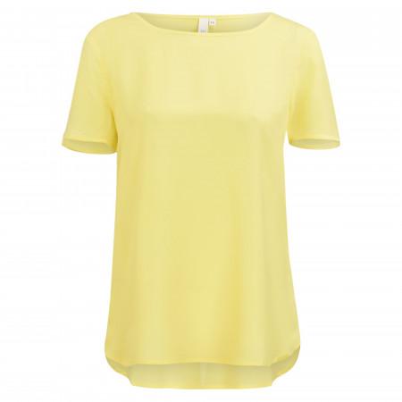 SALE % | Q/S designed by | Shirtbluse - Loose Fit - unifarben | Gelb online im Shop bei meinfischer.de kaufen