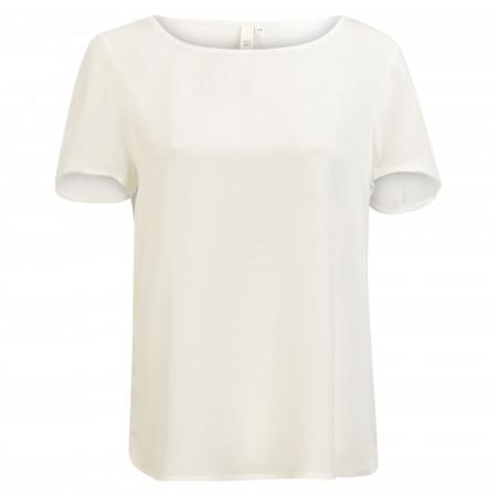 SALE % | Q/S designed by | Shirtbluse - Loose Fit - unifarben | Weiß online im Shop bei meinfischer.de kaufen