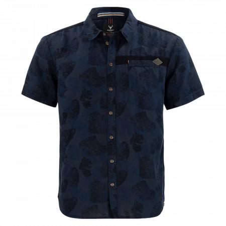 SALE % | s'questo | Freizeithemd - Regular Fit - Druck | Blau online im Shop bei meinfischer.de kaufen