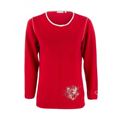 SALE % | Boss Casual | Pullover - Regular Fit - Crewneck - rot | Rot online im Shop bei meinfischer.de kaufen