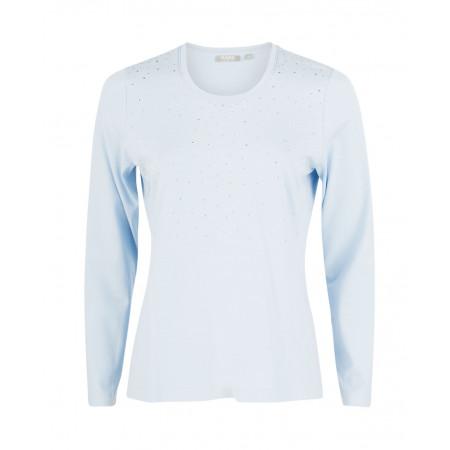 SALE % | Rabe | Shirt mit Strassdekor | Blau online im Shop bei meinfischer.de kaufen