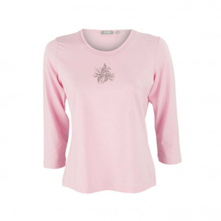 SALE % | Boss Casual | Jerseyshirt - Regular Fit - Strassdekor | Pink online im Shop bei meinfischer.de kaufen
