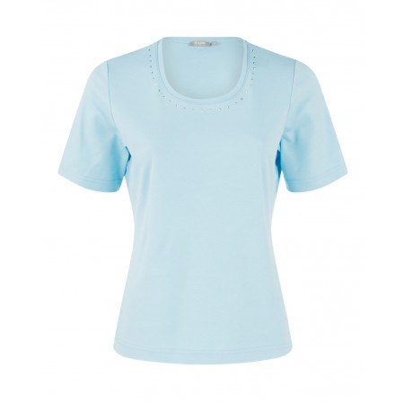 SALE % | Boss Casual | T-Shirt-Nietendekor | Blau online im Shop bei meinfischer.de kaufen