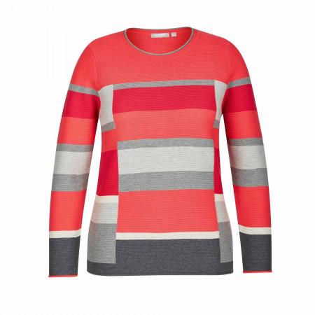 SALE % | Rabe | Pullover - Comfort Fit - Muster | Rot online im Shop bei meinfischer.de kaufen