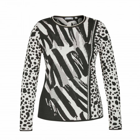SALE % | Rabe | Pullover - Regular Fit - Muster | Schwarz online im Shop bei meinfischer.de kaufen
