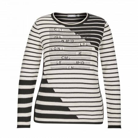 SALE % | Rabe | Pullover - Comfort Fit - Stripes | Schwarz online im Shop bei meinfischer.de kaufen