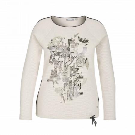 SALE % | Rabe | Pullover - Comfort Fit - Print | Weiß online im Shop bei meinfischer.de kaufen