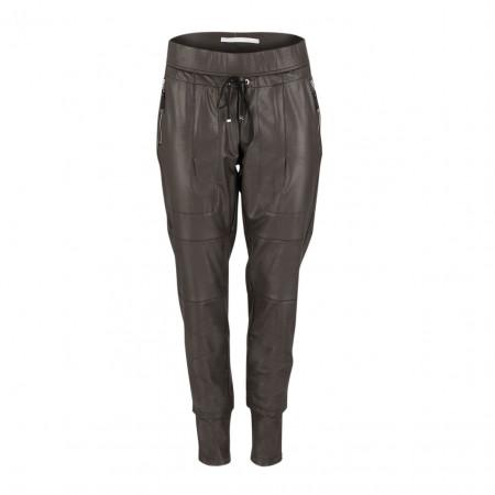 SALE %   Raffaello Rossi   Joggpant - Slim Fit - Leder-Optik   Braun online im Shop bei meinfischer.de kaufen