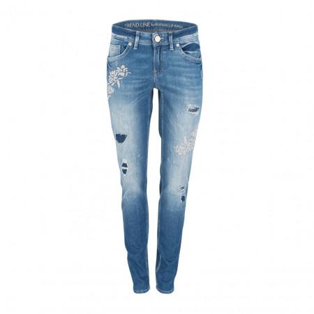 SALE % | Boss Casual | Jeans - Sinty Destroyed Stick - Straight Fit | Blau online im Shop bei meinfischer.de kaufen