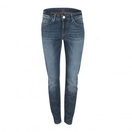 SALE % | Raffaello Rossi | Jeans - Sinty Chain - Straight Fit - Strassdekor | Blau online im Shop bei meinfischer.de kaufen