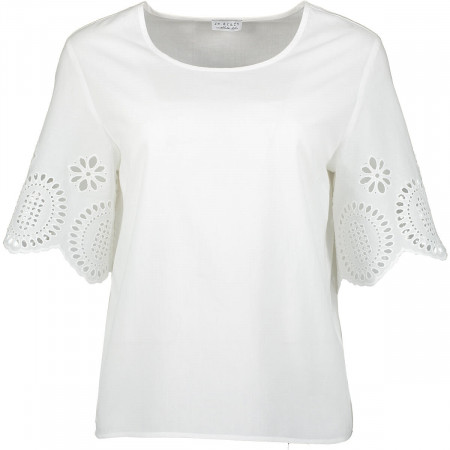 SALE % | re.draft | Bluse - Comfort Fit - Häkel-Optik | Weiß online im Shop bei meinfischer.de kaufen