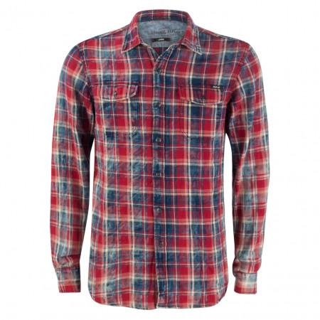 SALE % | Replay | Freizeithemd - Slim Fit - Karo-Muster | Pink online im Shop bei meinfischer.de kaufen